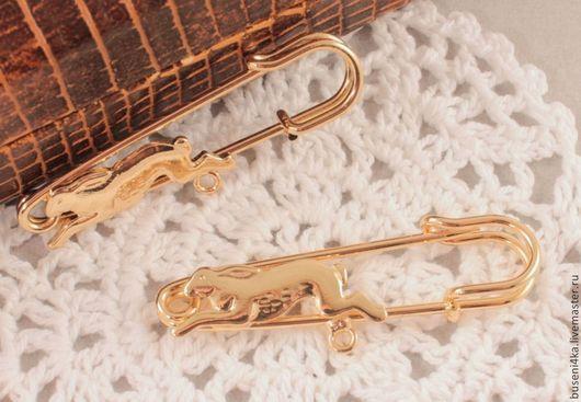 Для украшений ручной работы. Ярмарка Мастеров - ручная работа. Купить Булавка с петелькой Кролик, под золото (1шт). Handmade.