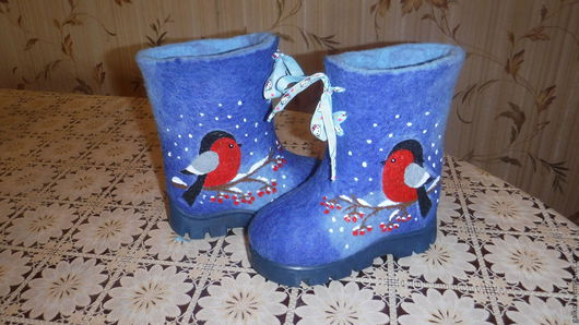 Обувь ручной работы. Ярмарка Мастеров - ручная работа. Купить детские валенки .ботиночки.. Handmade. Ручная работа, подошва тэп