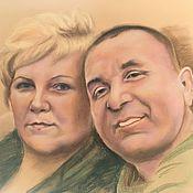 Картины ручной работы. Ярмарка Мастеров - ручная работа Семейный портрет. Handmade.
