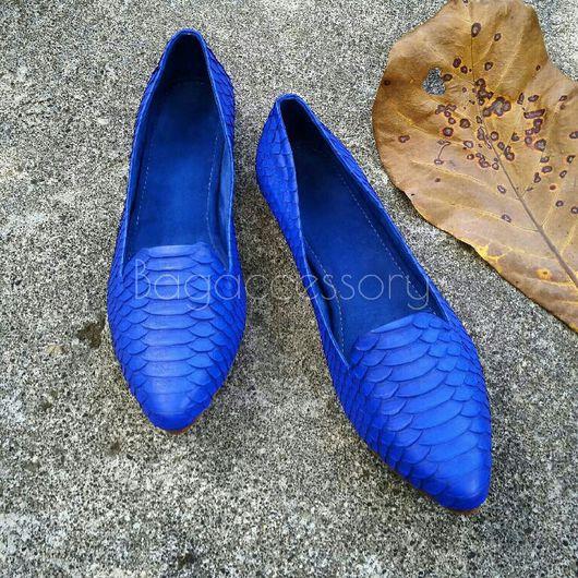 Обувь ручной работы. Ярмарка Мастеров - ручная работа. Купить Слиперы из натуральной кожи питона. Handmade. Слиперы