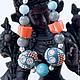 Браслеты ручной работы. Ярмарка Мастеров - ручная работа. Купить Браслет из натуральных камней Рассвет над морем. Handmade. Индия