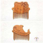 Работы для детей, handmade. Livemaster - original item Comb hair beech. Handmade.