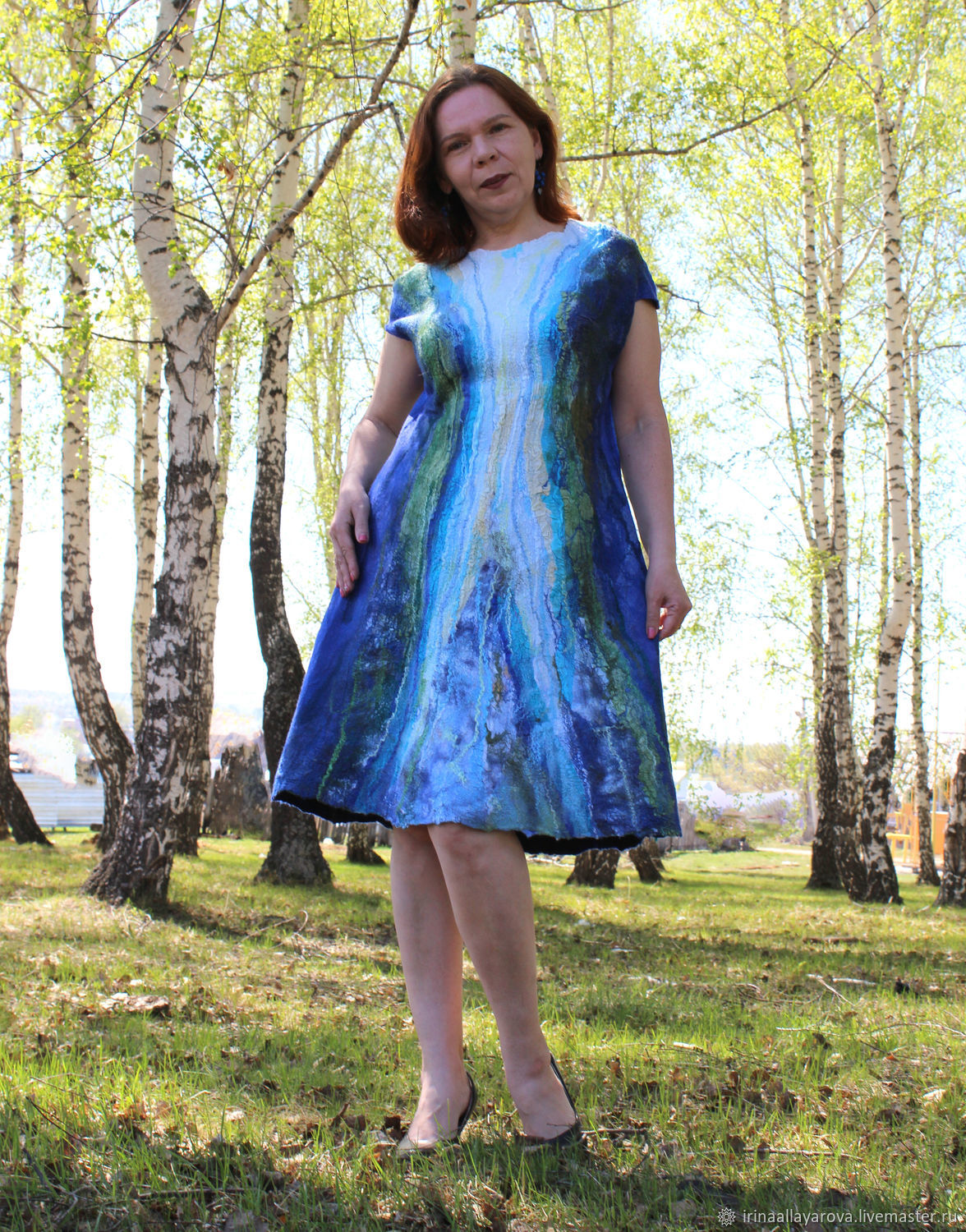 Felted dress is a Ray of happiness, Dresses, Verhneuralsk,  Фото №1