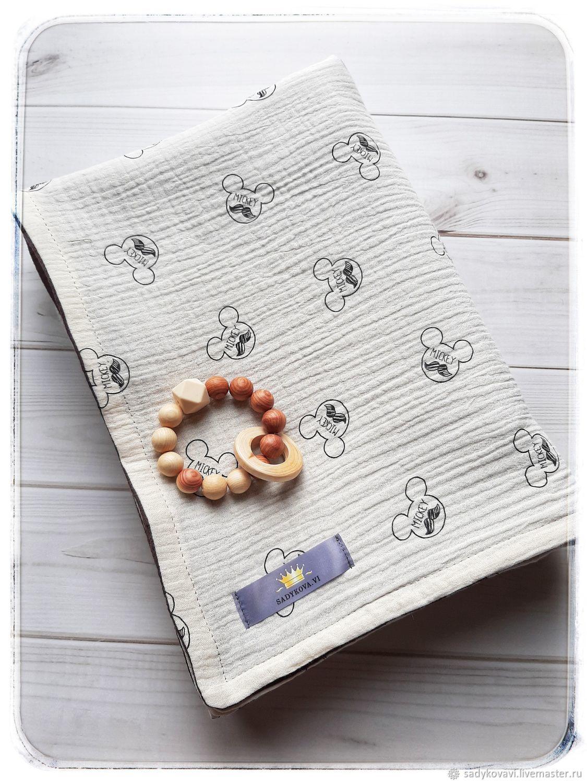 Плед муслиновый 4-х слойный, Пледы для детей, Москва,  Фото №1