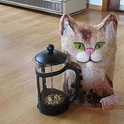 Посуда ручной работы. Ярмарка Мастеров - ручная работа грелка на кофейник Кофейный кот. Handmade.