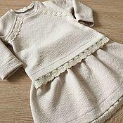 Работы для детей, handmade. Livemaster - original item Suit for girls cotton kapitone