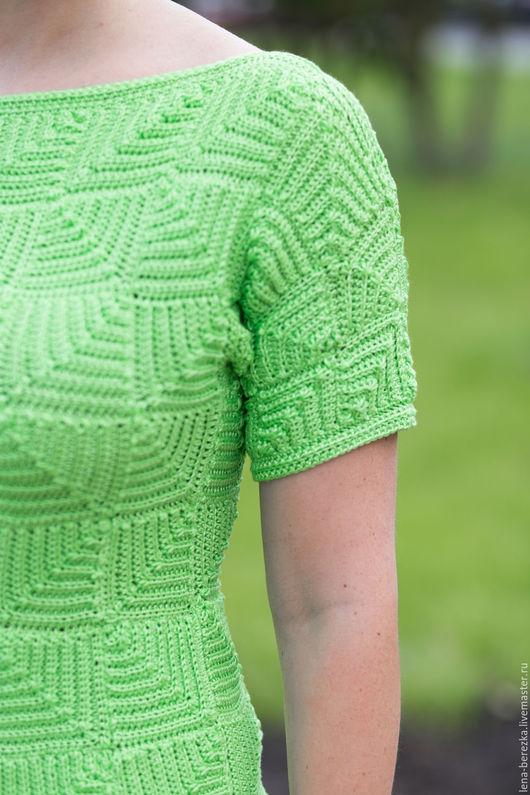 """Кофты и свитера ручной работы. Ярмарка Мастеров - ручная работа. Купить Джемпер """"Зелень"""". Handmade. Салатовый, кофточка, летний, зеленый"""