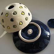 """Для дома и интерьера ручной работы. Ярмарка Мастеров - ручная работа Цветочный горшок  """"Горохи"""", керамика ручной работы. Handmade."""