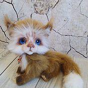 Куклы и игрушки ручной работы. Ярмарка Мастеров - ручная работа котик Бася. Handmade.