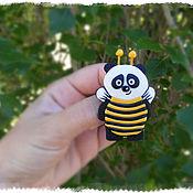 """Украшения ручной работы. Ярмарка Мастеров - ручная работа Брошь """"Мишка в костюме пчелы"""". Handmade."""