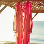 Одежда handmade. Livemaster - original item Tunic made of Italian cambric in crimson color. Handmade.