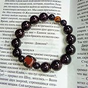Украшения handmade. Livemaster - original item Bracelet of garnet, sardonyx and tiger`s eye
