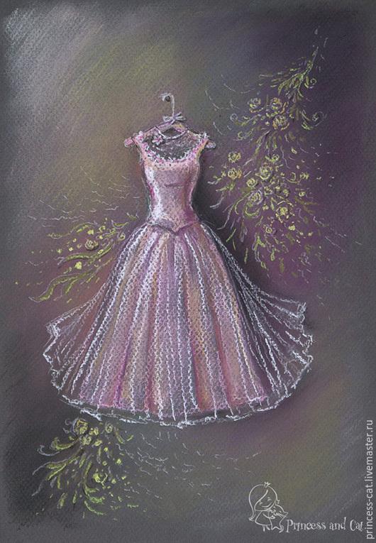 Фантазийные сюжеты ручной работы. Ярмарка Мастеров - ручная работа. Купить Нарядные платья для настоящей принцессы. Handmade. Бордовый, цветы