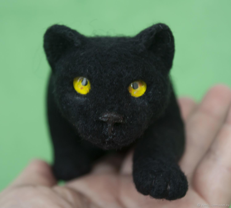 Черная пантера, Войлочная игрушка, Москва,  Фото №1
