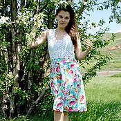 """Одежда ручной работы. Ярмарка Мастеров - ручная работа Сарафан """"В цветах"""". Handmade."""