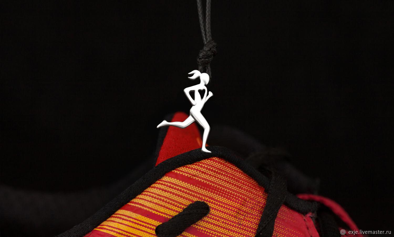 Кулоны, подвески ручной работы. Ярмарка Мастеров - ручная работа. Купить Подвеcка «Бегунья». Handmade. Спорт, легкая атлетика