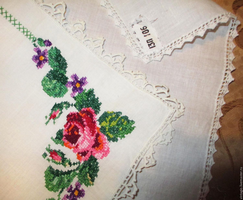 Вышивка для носового платка фото