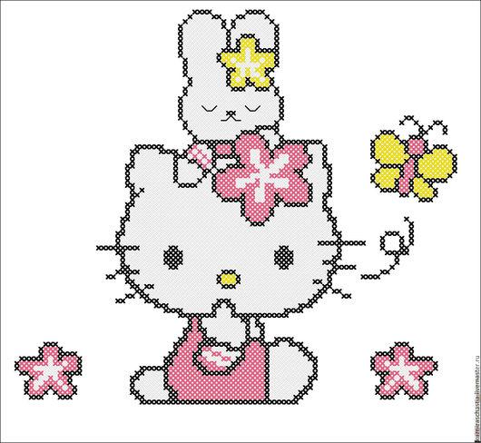 """Вышивка ручной работы. Ярмарка Мастеров - ручная работа. Купить Набор дизайнов машинной вышивки """"Hello Kitty"""", EXP, ART, PES, VIP, VP3. Handmade."""
