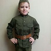 Одежда handmade. Livemaster - original item Military uniform - tunic and forage cap.Tailoring to order.Children`s clothing.. Handmade.