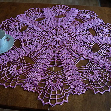 Для дома и интерьера ручной работы. Ярмарка Мастеров - ручная работа Ажурная розовая салфетка. Handmade.