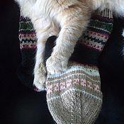 Одежда ручной работы. Ярмарка Мастеров - ручная работа Вязаные разноцветные носки.. Handmade.