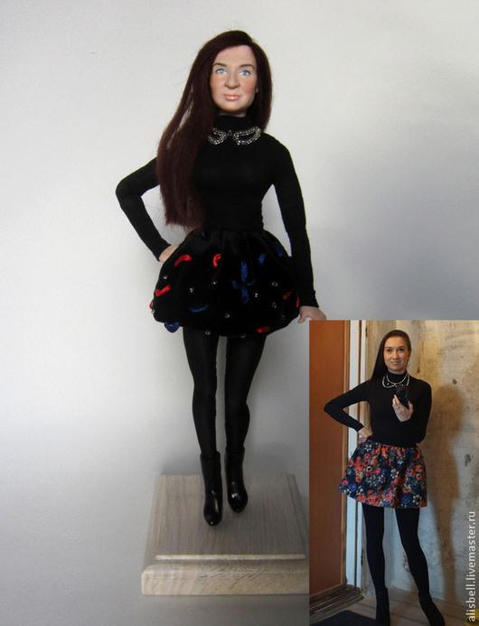 Портретные куклы ручной работы. Ярмарка Мастеров - ручная работа. Купить Портретная кукла. Handmade. Черный, проволочный каркас
