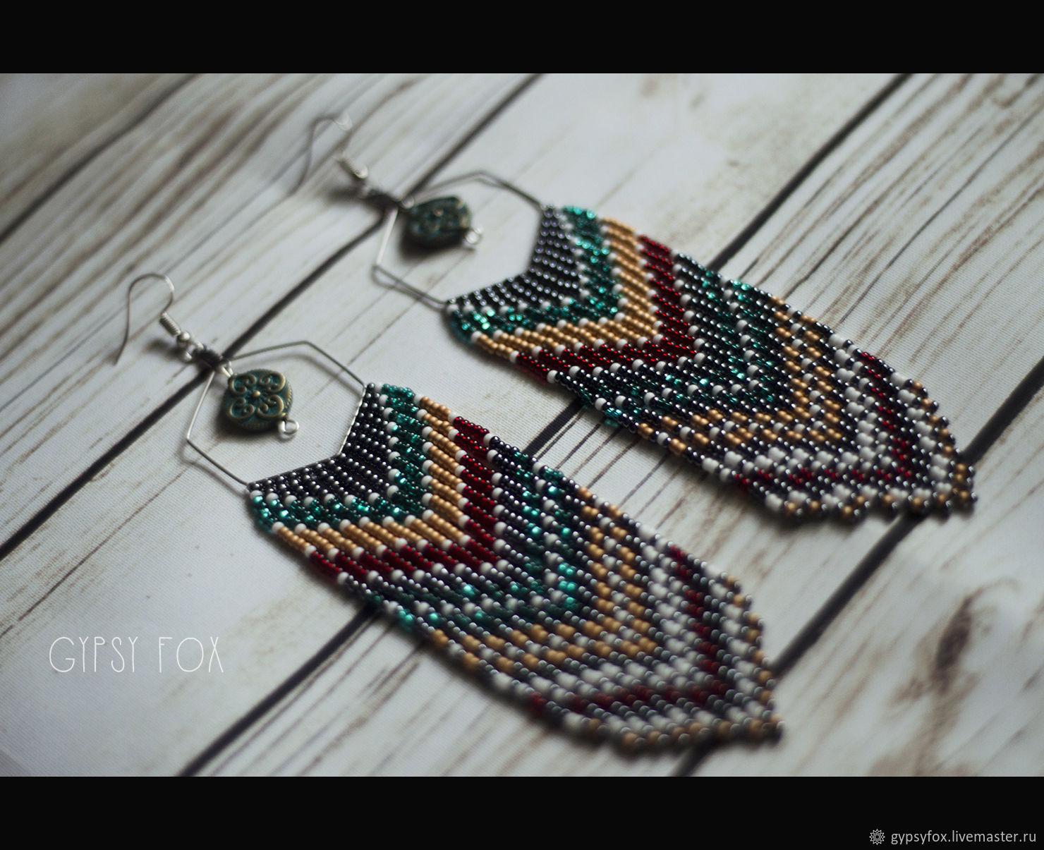 bead earrings, Tassel earrings, Tyumen,  Фото №1