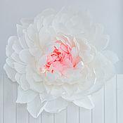 Цветы ручной работы. Ярмарка Мастеров - ручная работа Большой бумажный цветок - пион. Handmade.