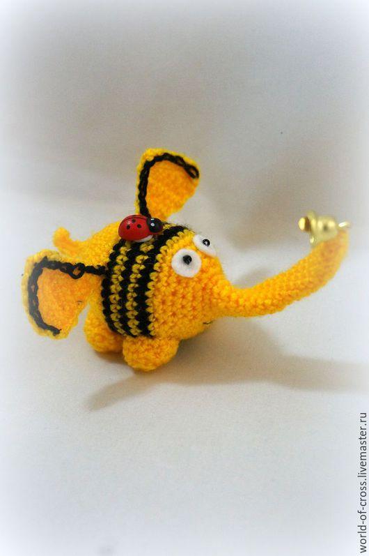 Игрушки животные, ручной работы. Ярмарка Мастеров - ручная работа. Купить Смешной Слоник. Handmade. Желтый, слоненок, слон игрушка