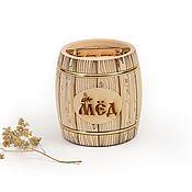Посуда handmade. Livemaster - original item Barrel for honey. 1 kg honey barrel. Handmade.