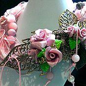 """Украшения ручной работы. Ярмарка Мастеров - ручная работа колье """"Розовое парфе"""". Handmade."""