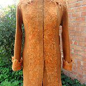 """Одежда ручной работы. Ярмарка Мастеров - ручная работа Валяное пальто """"Осень - рыжая подружка"""". Handmade."""
