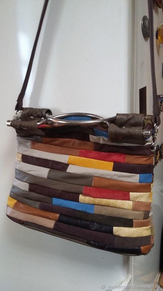 9e44c6f79904 Женские сумки ручной работы. Ярмарка Мастеров - ручная работа. Купить  Кожаная сумка из разноцветных ...
