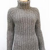 Одежда handmade. Livemaster - original item Knit sweater turtleneck 100% wool. Handmade.