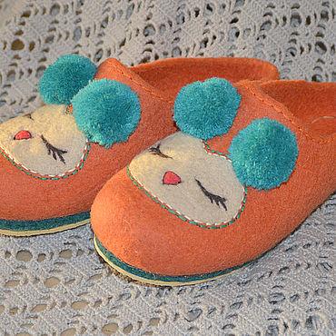 Обувь ручной работы. Ярмарка Мастеров - ручная работа Женские валяные тапочки Сплюшки теплые. Handmade.