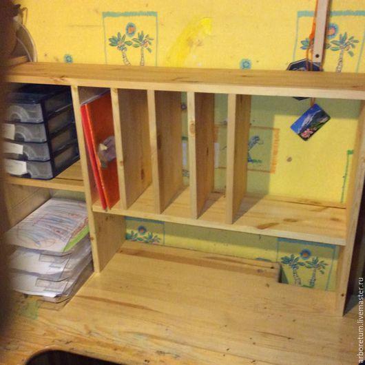 Детская ручной работы. Ярмарка Мастеров - ручная работа. Купить Полка на/над письменный стол. Handmade. Письменный стол