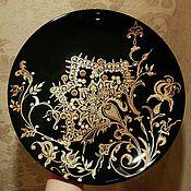 Подарки к праздникам ручной работы. Ярмарка Мастеров - ручная работа Тарелка декоративная настенная. Handmade.
