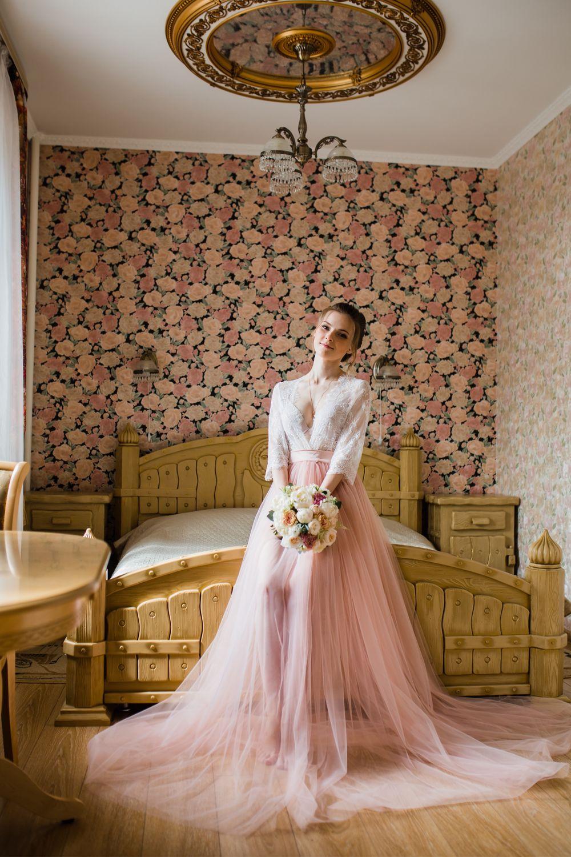 Будуарное платье Муза, персик, Платья, Москва,  Фото №1