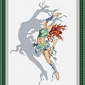 """Картины и панно ручной работы. Ярмарка Мастеров - ручная работа схема """"Танец со своей тенью"""". Handmade."""