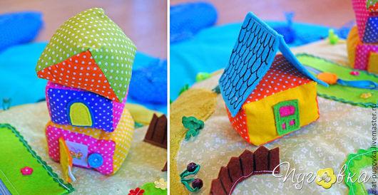 Развивающие игрушки ручной работы. Ярмарка Мастеров - ручная работа. Купить Развивающий детский коврик Чудо-юдо-рыба-кит. Handmade.
