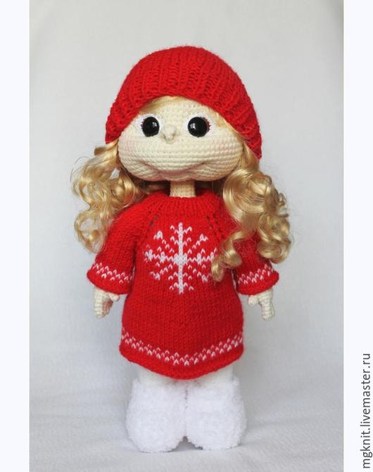 """Человечки ручной работы. Ярмарка Мастеров - ручная работа. Купить Кукла вязаная """"Подружка"""". Игровая. На заказ. Handmade. Кукла"""