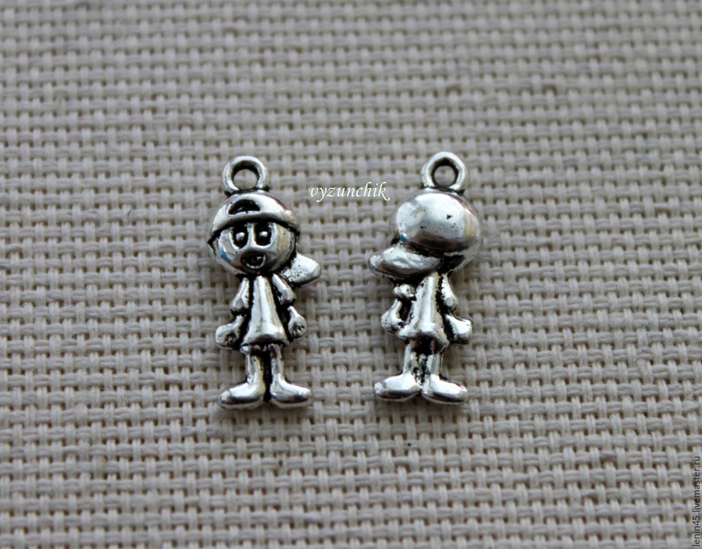 Для украшений ручной работы. Ярмарка Мастеров - ручная работа. Купить Подвеска мальчик. Handmade. Ключ, для кукол, шармики, металл