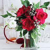 Свадебный салон ручной работы. Ярмарка Мастеров - ручная работа Букет с розами. Handmade.