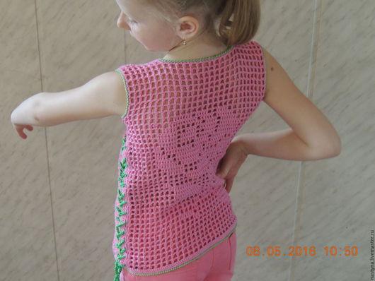 Одежда для девочек, ручной работы. Ярмарка Мастеров - ручная работа. Купить Туника для девочки. Handmade. Розовый, туника вязаная