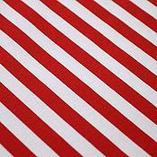 Материалы для творчества ручной работы. Ярмарка Мастеров - ручная работа Футер 2-нитка Полоска красно-белая. Handmade.