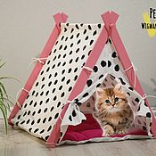 Для домашних животных, handmade. Livemaster - original item House for small animals