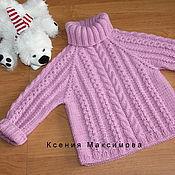Работы для детей, handmade. Livemaster - original item Winter sweater. Handmade.