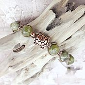 Украшения handmade. Livemaster - original item Green quartz bracelet with turtle. Handmade.