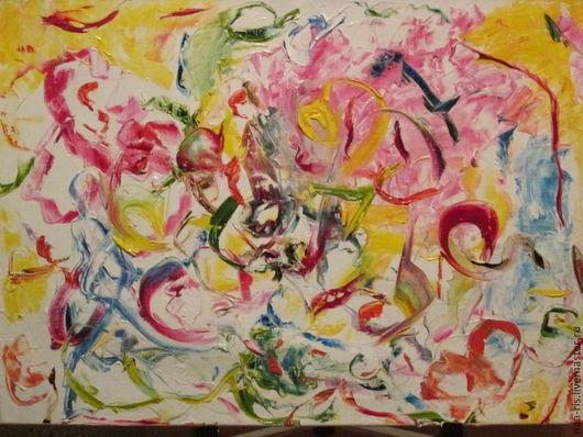 """Абстракция ручной работы. Ярмарка Мастеров - ручная работа. Купить """"Праздник"""". Handmade. Картина, картина в подарок, картина для интерьера"""