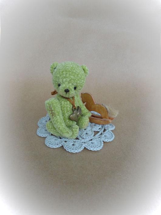 Мишки Тедди ручной работы. Ярмарка Мастеров - ручная работа. Купить Green. Handmade. Салатовый, авторская работа, шплинтовое крепление